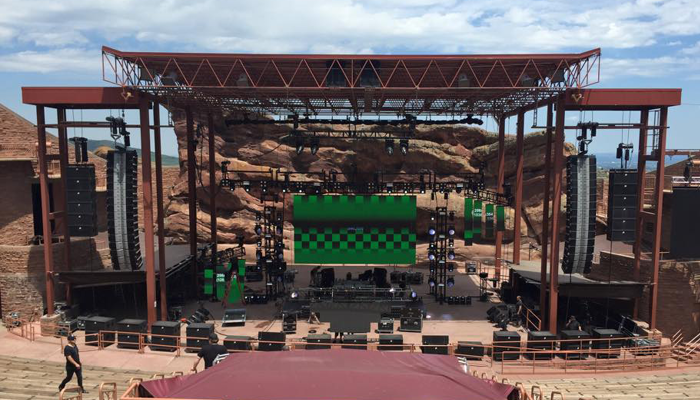 Trinity System set up at Red Rocks for Dead Rocks 2015