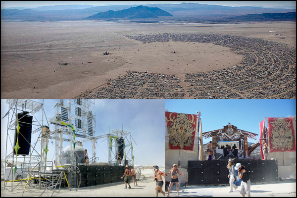 BURNINGMAN 2011 - Stages with PK Sound