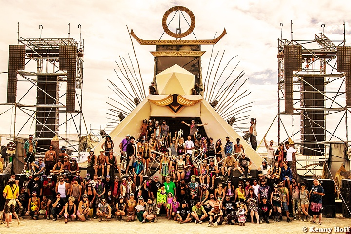 PK Delivers Magic with Camp Questionmark at Burning Man